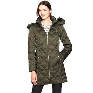 NWOT Kenneth Cole Quilted Trim Puffer Jacket